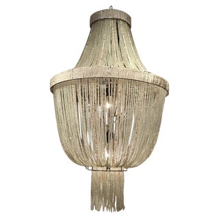 Crystal Beaded Urn Chandelier, in the Neoclassical Style For Sale