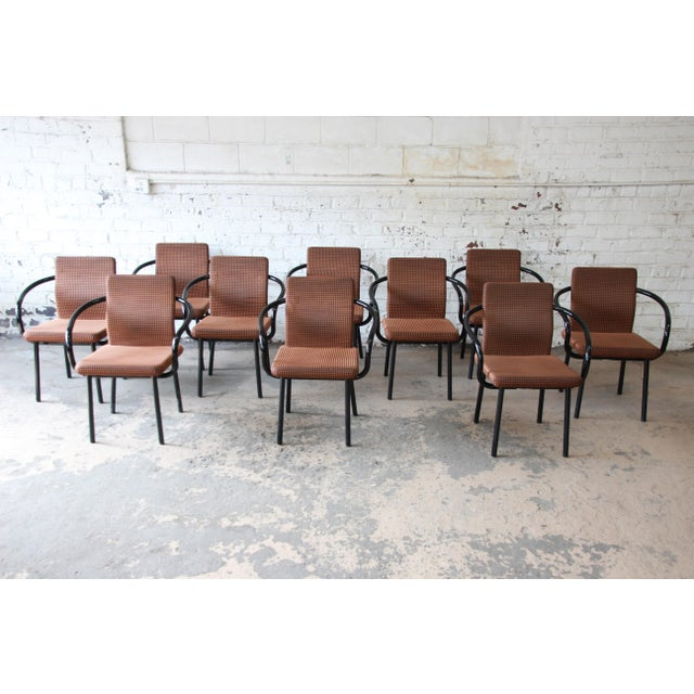 """Black Ettore Sottsass for Knoll """"Mandarin"""" Armchairs - a Pair For Sale - Image 8 of 11"""
