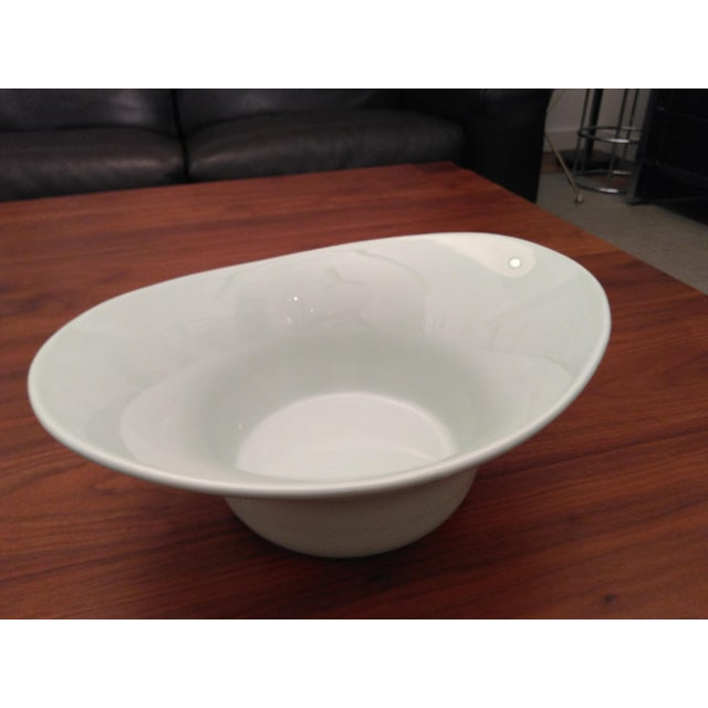 Green Modern Space Age Secla of Portugal Deep Serving Bowl For Sale - Image 8 of 8