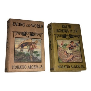 1914 Horatio Alger Jr. Books for Boys - A Pair For Sale
