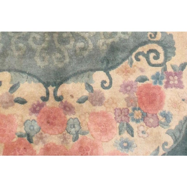1920s Hand Made Antique Art Deco Chinese Rug - 5′ × 7′10″ - Image 6 of 7