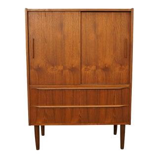 Mid Century Modern Teak Cabinet Armoire - Skalleboelle For Sale