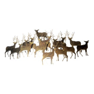 Large Curtis Jere Deer Metal Wall Hanging Sculpture