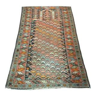 "19th Century Shirvan Prayer Rug-3'2""x5'4"" For Sale"