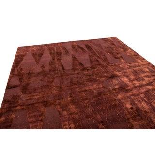 Burgundy Diamond Wool and Silk Rug - 8′3″ × 8′11″ Preview