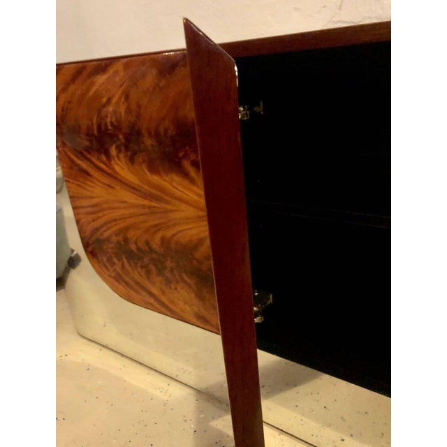 Monumental Sideboard of Chrome and Burl Wood by Pace Collection For Sale - Image 9 of 12