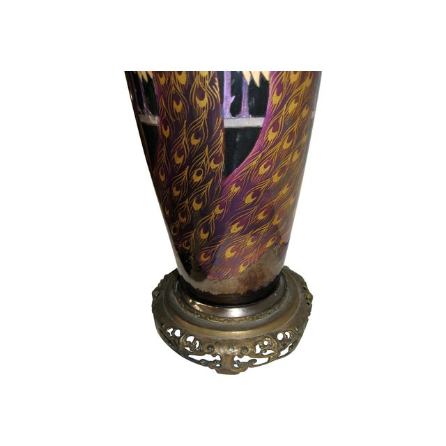 Asian Peacock Vase Table Lamp - Image 2 of 4