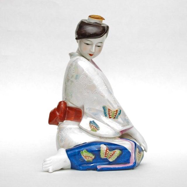 1950s Vintage Japanese Porcelain Sake Bottle or Figurine For Sale In Dallas - Image 6 of 12