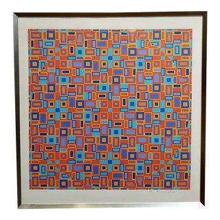 Tohsinobu Onosato-Movement of Circles-Original 1968 Lithograph-Signed For Sale