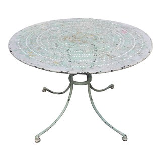 Late 19th Century Antique French Garden Table For Sale