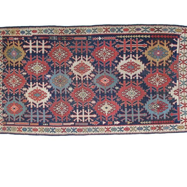 """Leon Banilivi Antique Caucasian Kilim - 6' X 10'8"""" - Image 2 of 5"""