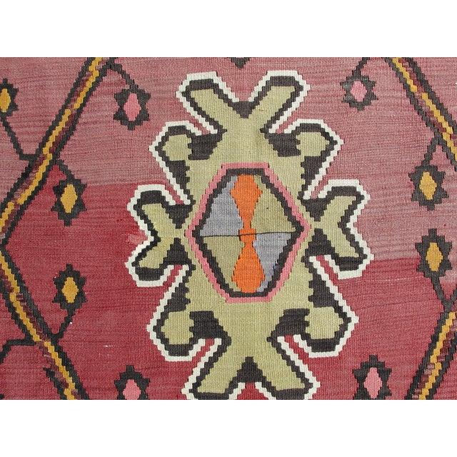 Vintage Turkish Kilim Rug - 7′1″ × 10′11″ For Sale In Houston - Image 6 of 11