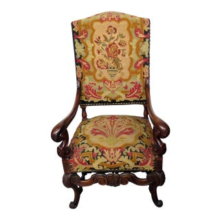 Louis XV Style Needlepoint Armchair For Sale