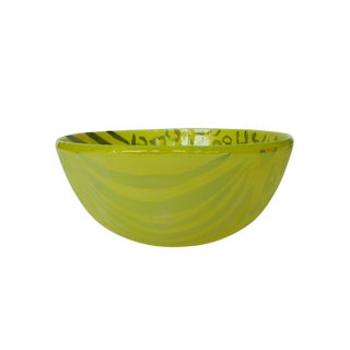 Thom Lussier Yellow Ceramic Bowl For Sale