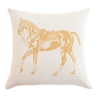 Stick & Ball Polo Pony Alpaca Pillow For Sale