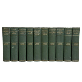 Antique Forest Dickens Classics Book Set, (S/10) For Sale