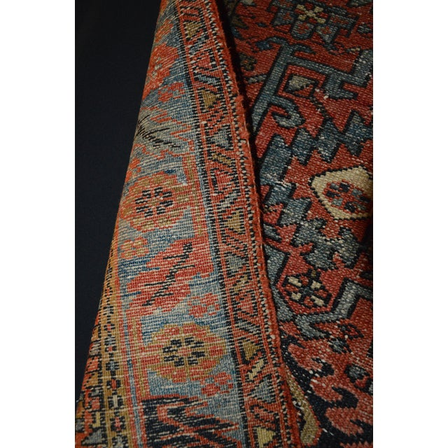 "Antique Persian Karaja Rug - 3'1"" x 4'3"" For Sale - Image 10 of 11"