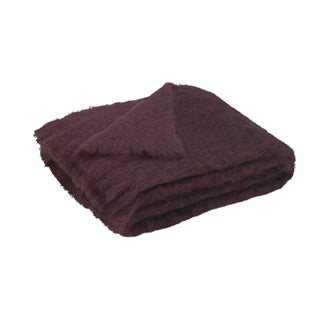 Mulberry Brushed Mohair Throw For Sale