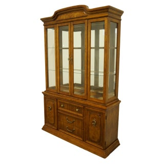 """1980s Italian Bernhardt Furniture Neoclassical Tuscan Style 53"""" Illuminated Display China Cabinet Preview"""
