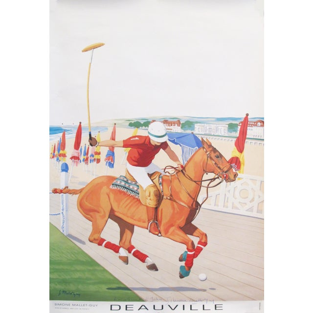 1990s 1993 French Horse Poster, Polo Deauville For Sale - Image 5 of 5