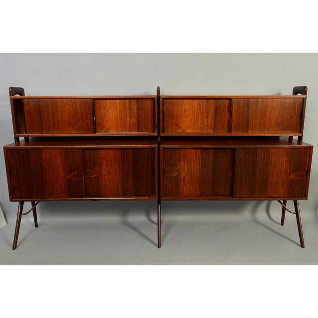 KP Møbler Kurt Ostervig Rosewood Wall Unit Bookcase For Sale - Image 4 of 7
