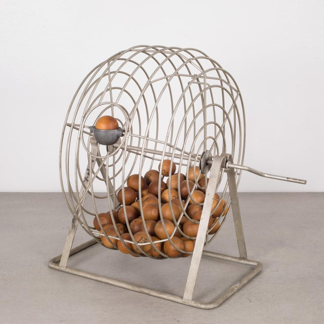 Antique Bingo Cage C. 1940 For Sale In San Francisco - Image 6 of 6