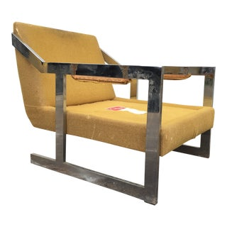 Mid-Century Chrome Carson Lounge Chair For Sale