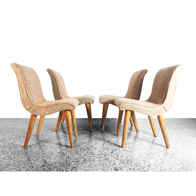 Russel Wright Russel Wright Scoop Dining Chairs - Set of 4 For Sale - Image 4 of 13
