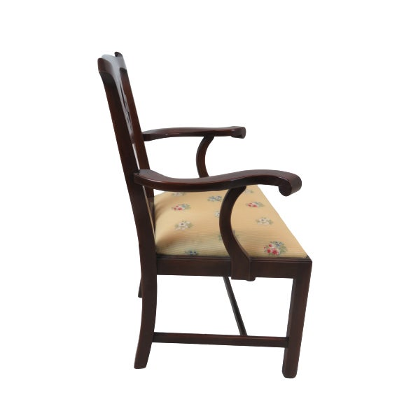 Chippendale Henkel Harris Chippendale Dining Mahogany Chairs Model 101 - Set of 6 For Sale - Image 3 of 13
