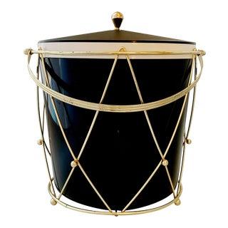 Vintage Ca 1960s Tambourine Style Ice Bucket For Sale