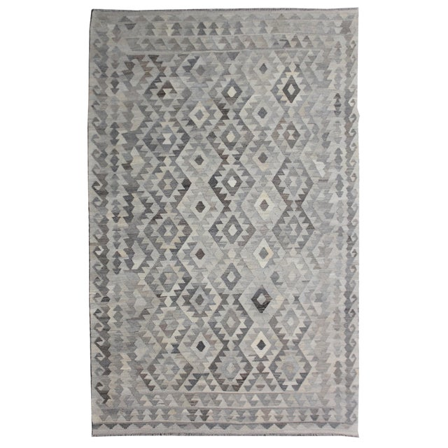 "Aara Rugs Inc. Hand Knotted Modern Kilim Rug - 6'11"" x 9'10"" For Sale"