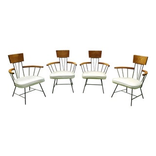1960s Richard McCarthy for Selrite Mid Century Wrought Iron Chairs - Set of 4 For Sale