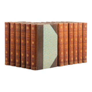 1900s Captain F. Brinkley's Japan: Its History Arts and Literature Leather Volume Set - 12 Books For Sale