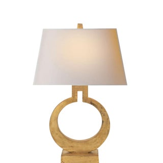 Visual Comfort Ring Form Brass Table Lamp