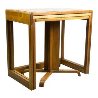 1970s Danish Modern Teak Nesting Tables - Set of 3 For Sale