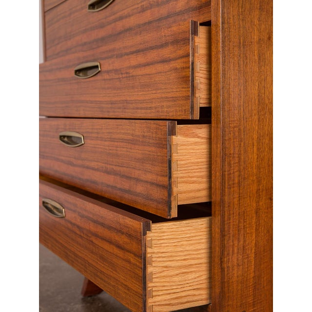 Gold George Nakashima Origins Tall Dresser for Widdcomb For Sale - Image 8 of 11