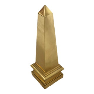 Vintage Large Brass Obelisk For Sale
