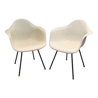 1950s Eames for Herman Miller H-Base Shell Chairs-a Pair For Sale