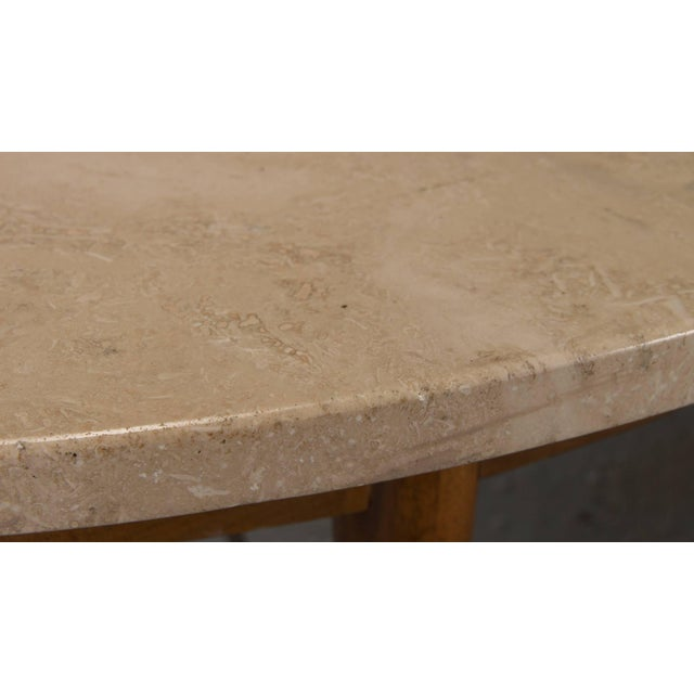 Paul McCobb Round Travertine Cocktail Table by Paul McCobb for the Connoisseur Collection For Sale - Image 4 of 8