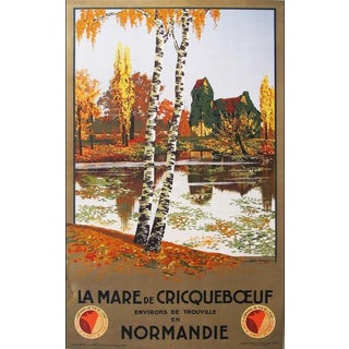 1940s Original Vintage French Sncf Travel Poster, Normandie For Sale