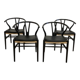 Set of Four Carl Hansen & Son, Hans J. Wegner Wish Bone Chairs For Sale