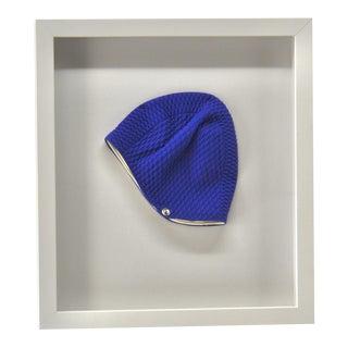 Vintage Framed Blue Swim Cap For Sale
