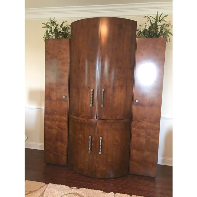 Century Furniture Century Furniture Wooden Armoire For Sale - Image 4 of 4