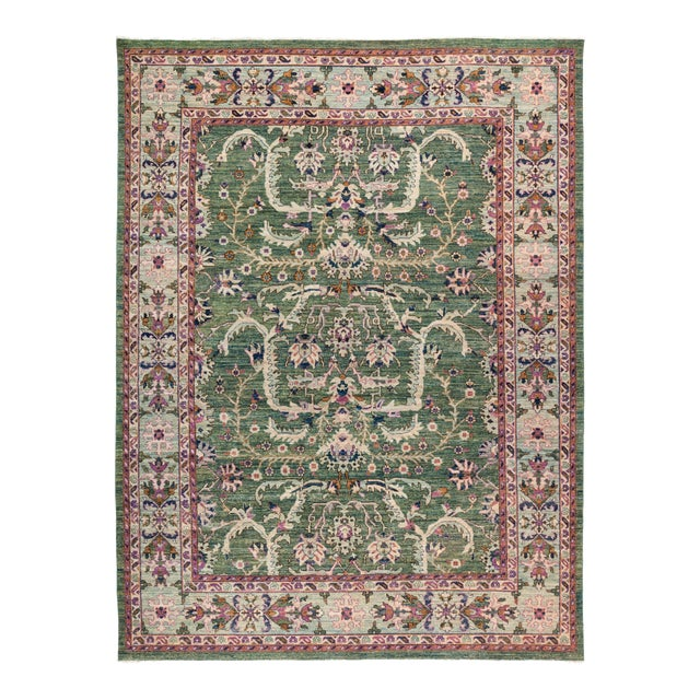 "Eclectic Hand Knotted Area Rug - 9' 0"" X 11' 9"" - Image 1 of 4"