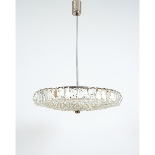 Silver Beautiful Bakalowits Dome Crystal Glass Chandelier For Sale - Image 8 of 8