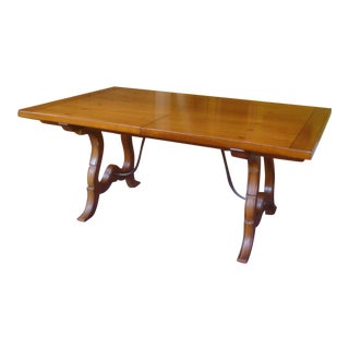 Refectory Trestle Dining Table Drexel or Henredon For Sale
