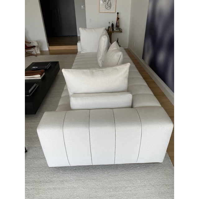Contemporary Minotti Freeman Tailor Sofa Daybed Element + Armrest Element For Sale - Image 3 of 7