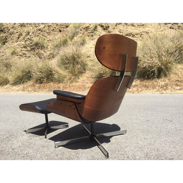 Fully Restored Plycraft Eames Lounge With Ottoman - Image 5 of 9