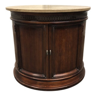 Brueners Furniture Wood + Marble Top Commode For Sale