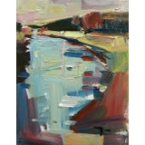 Image of Jose Trujillo Abstract River Signed Oil Painting For Sale